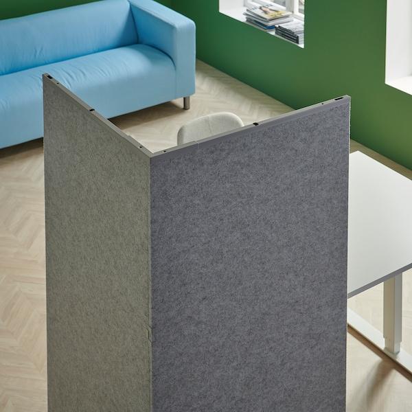 SIDORNA Ścianka działowa, szary, 162x160x150 cm