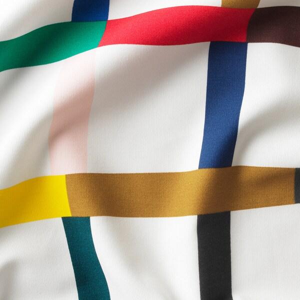 SIGRUNN tkanina biały/wielobarwny 230 g/m² 150 cm 81 cm 1.50 m²