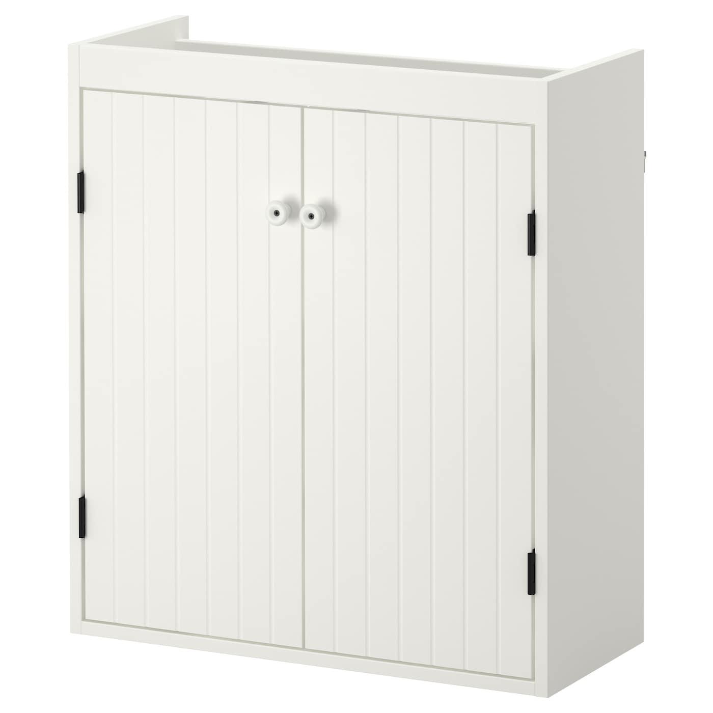IKEA SILVERÅN biała szafka pod umywalkę z parą drzwi, 60x25x68 cm