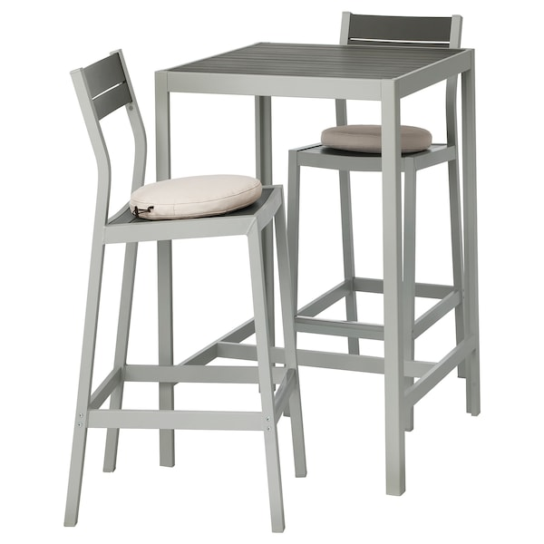 SJÄLLAND stół barowy i 2 stołki barowe, ogr. ciemnoszary/Frösön/Duvholmen beżowy 71 cm 71 cm 103 cm