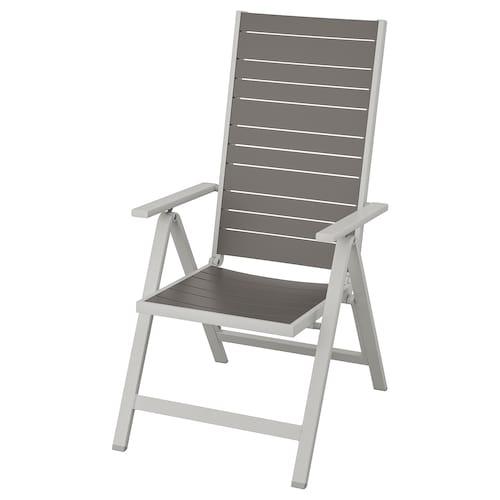 SJÄLLAND krzesło z regulowanym oparciem, ogr jasnoszary składany/ciemnoszary 110 kg 57 cm 75 cm 110 cm 45 cm 43 cm 42 cm