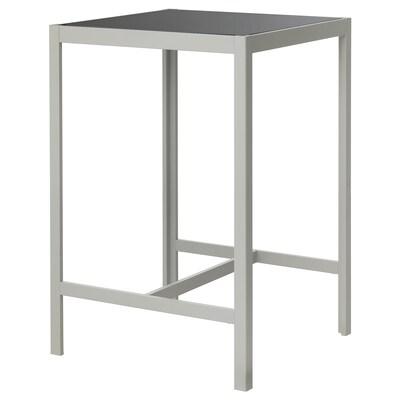 SJÄLLAND Stół barowy, ogordowy, szkło szary/jasnoszary, 71x71x103 cm