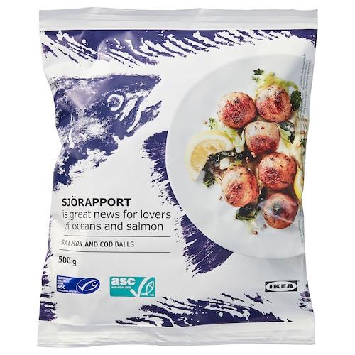SJÖRAPPORT klopsiki łososiowe, mrożone 500 g