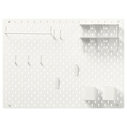 SKÅDIS tablica perforowana kombinacja biały 76 cm 12 cm 56 cm