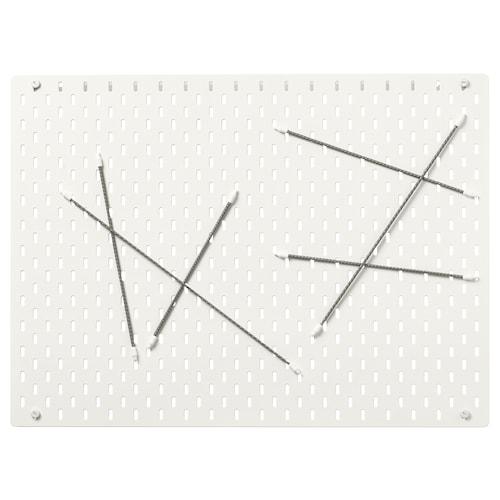 SKÅDIS tablica perforowana kombinacja biały 76 cm 4 cm 56 cm