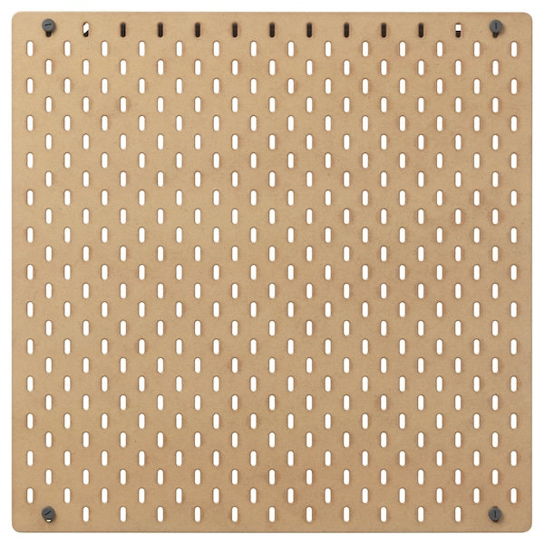 SKÅDIS Tablica perforowana, drewno, 56x56 cm