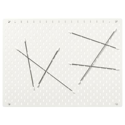 SKÅDIS Tablica perforowana kombinacja, biały, 76x56 cm