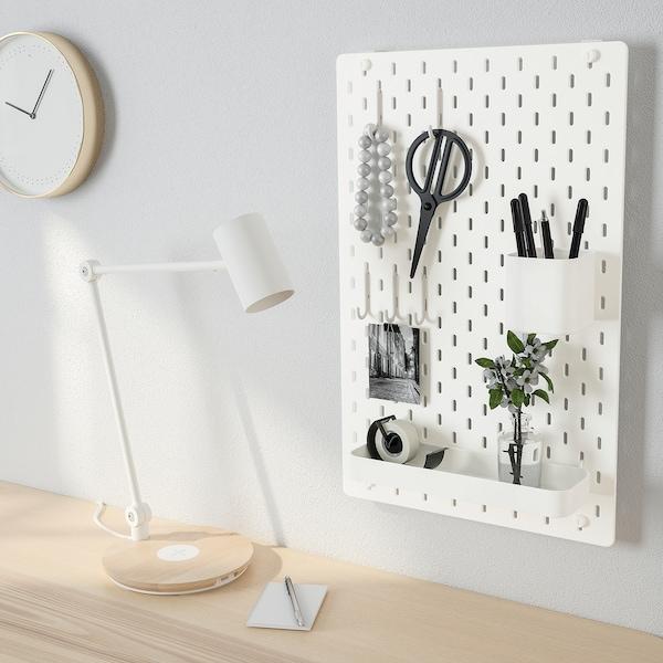 SKÅDIS Tablica perforowana kombinacja, biały, 36x56 cm