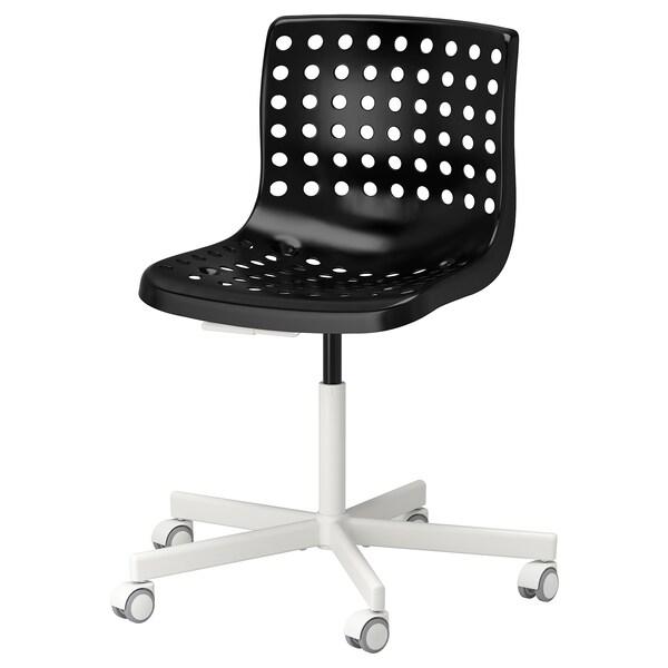 SKÅLBERG SPORREN Krzesło obrotowe, czarny, biały, Zamów