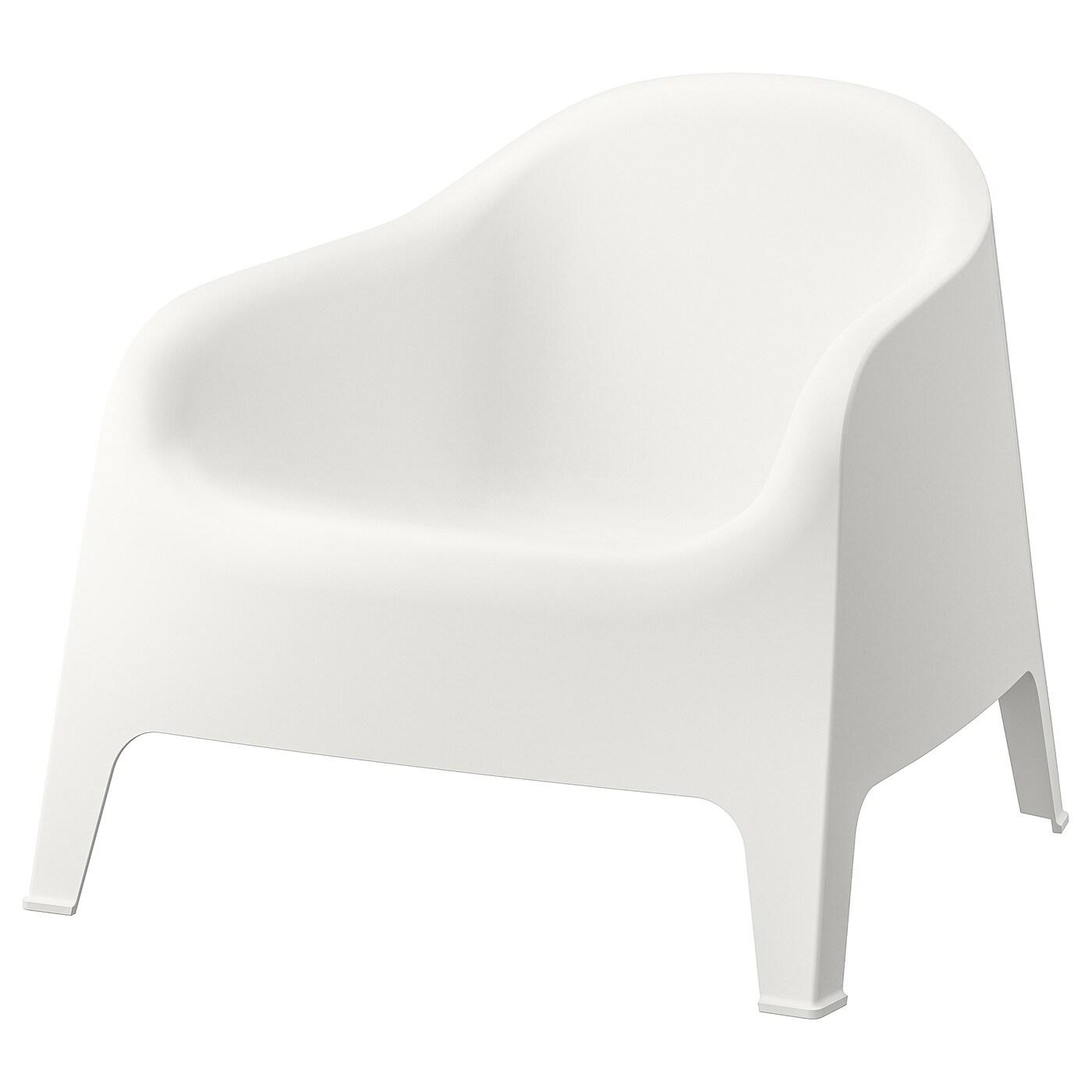 IKEA SKARPÖ Fotel ogrodowy, biały