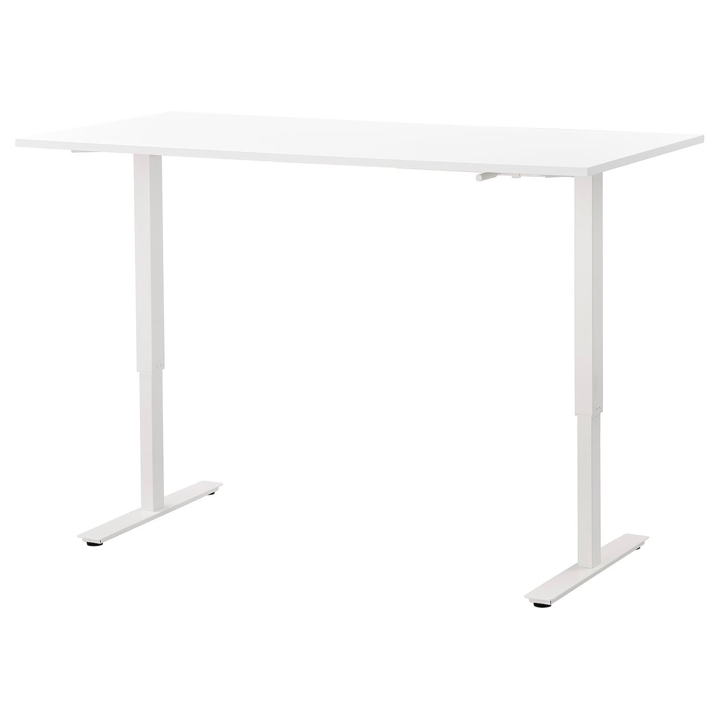 IKEA SKARSTA Biurko z regulacją wysokości, biały, 160x80 cm