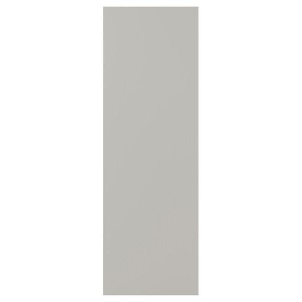 SKATVAL Drzwi z zawiasami, jasnoszary, 40x120 cm