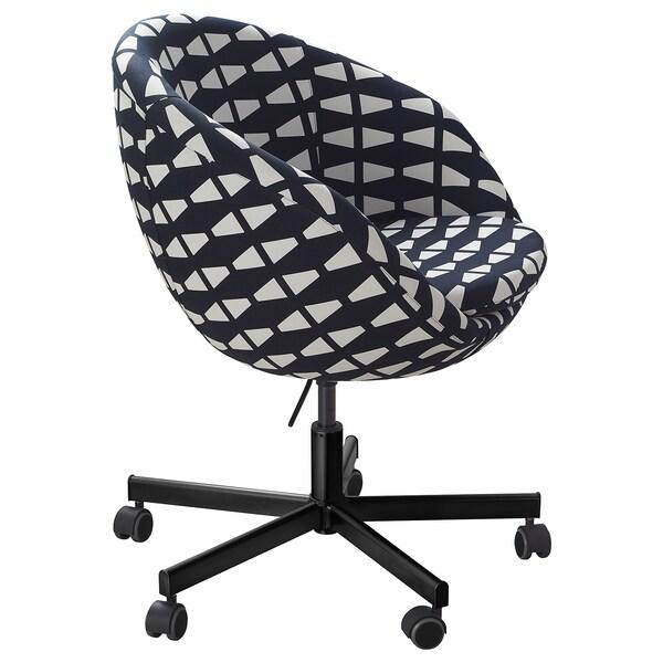 SKRUVSTA Krzesło obrotowe, Ebbarp czarny/biały