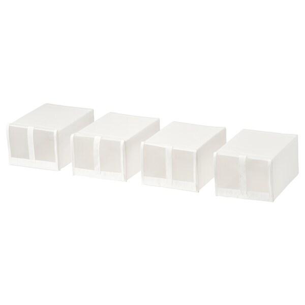 SKUBB Pudełko na buty biały 22 cm 34 cm 16 cm 4 szt.