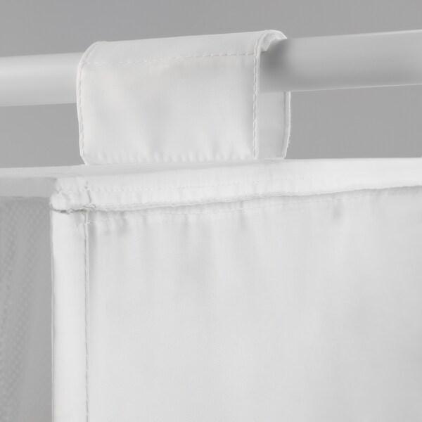 SKUBB Wisząca półka, 6 przegród, biały, 35x45x125 cm
