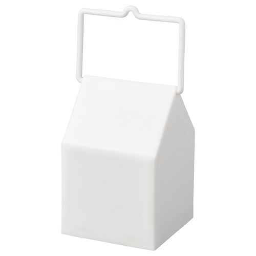 SKYHÖGT latarenka LED na baterie/do wewnątrz/na zewnątrz biały 7 cm 11 cm
