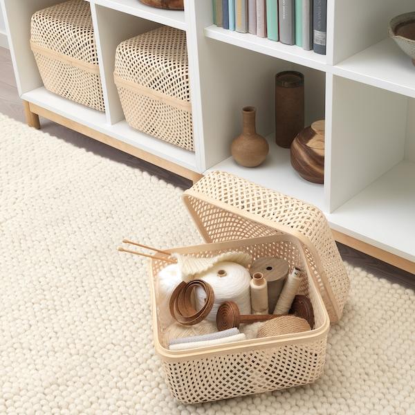 SMARRA Pudełko z pokrywką, naturalny, 30x30x23 cm