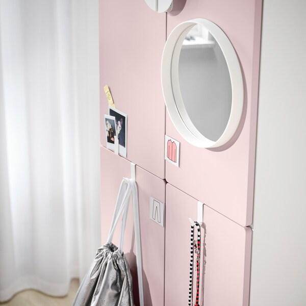 SMÅSTAD / PLATSA Szafa, biały bladoróżowy/z 2 drążkami na ubrania, 60x40x180 cm
