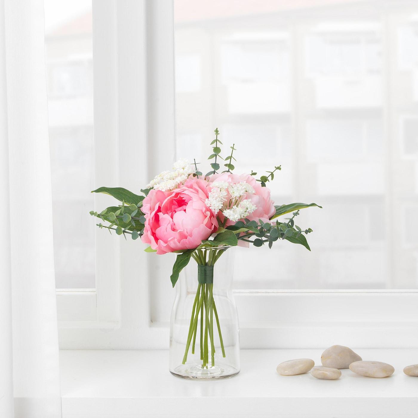 SMYCKA Sztuczny bukiet - różowy 25 cm