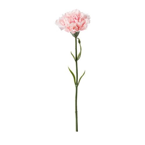 СМИККА Цветок искусственный, гвоздика, розовый, 30 см-1