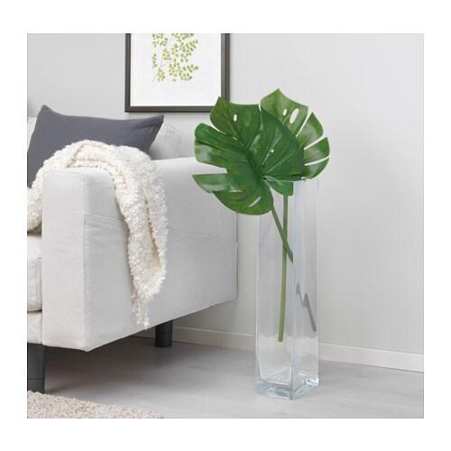 СМИККА Цветок искусственный, монстера, зеленый, 80 см-2