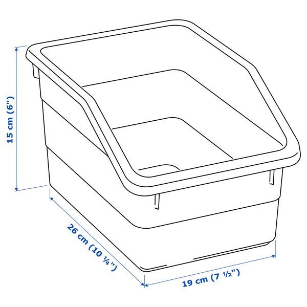 SOCKERBIT pojemnik różowy 26 cm 19 cm 15 cm
