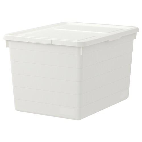 SOCKERBIT pojemnik z pokrywką biały 38 cm 51 cm 30 cm