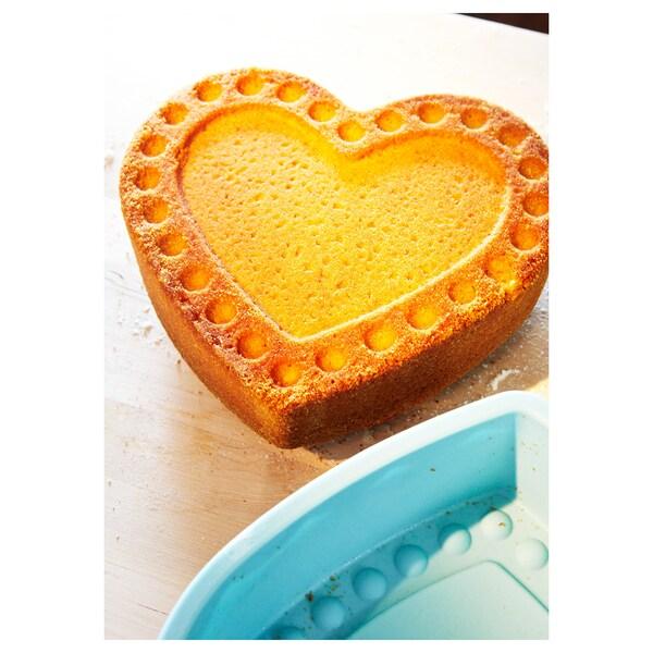 SOCKERKAKA Forma do pieczenia, kształt serca jasnoniebieski, 1.5 l
