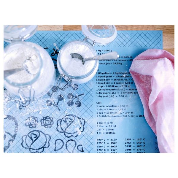 SOCKERKAKA Stolnica silikonowa i nóż, jasnoniebieski