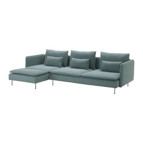 s derhamn sofa 4 osobowa z szezlongiem finnsta turkusowy ikea. Black Bedroom Furniture Sets. Home Design Ideas