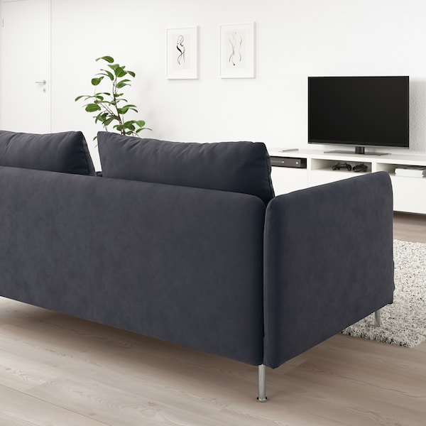 SÖDERHAMN sofa 3-osobowa Samsta ciemnoszary 83 cm 69 cm 198 cm 99 cm 14 cm 6 cm 186 cm 70 cm 39 cm