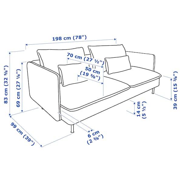 SÖDERHAMN Sofa 3-osobowa, Viarp beż/brąz