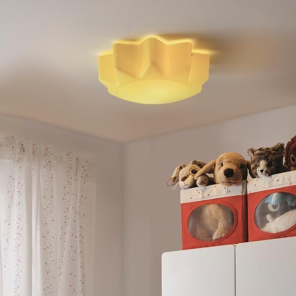 SOLHEM lampa sufitowa żółty słońce 13 Wat 13 cm 35 cm