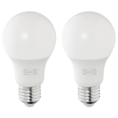 SOLHETTA Żarówka LED E27 470 lumenów, kula opalowa biel