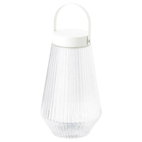 SOLVINDEN oświetlenie LED zewnętrzne/na baterie szkło bezbarwne 24 cm 15 cm