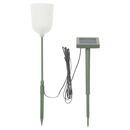 SOLVINDEN ośw. ziemne LED na bat. sł. zewnętrzne kształt dzwonu/kwiat biały 4 lm 3 m 9 cm 46 cm 33 cm