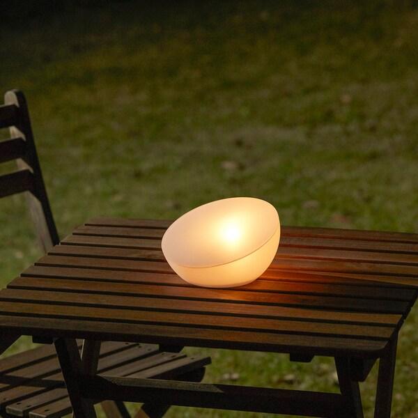 SOLVINDEN oświetlenie LED na bat. słoneczne zewnętrzne/półkula biały 2 lm 11 cm 18 cm