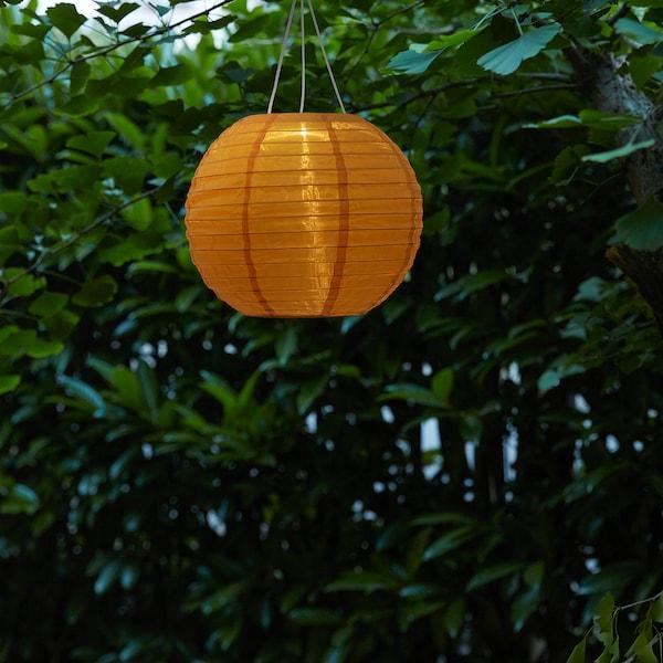 SOLVINDEN lampa wisząca na energię słon. LED zewnętrzne/kula złoty kolor 2 lm 30 cm 26 cm 26 cm