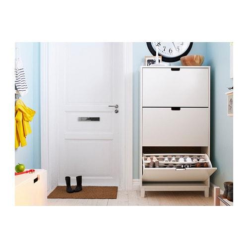 STÄLL Szafka na buty/3 przedzialy IKEA Pomaga uporządkować buty i jednocześnie zaoszczędzić przestrzeń.