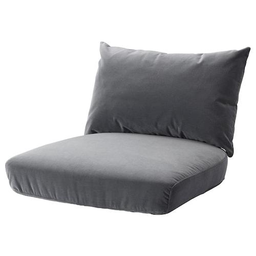 STOCKHOLM 2017 komplet poduszek na fotel Sandbacka ciemnoszary 500 g 575 g