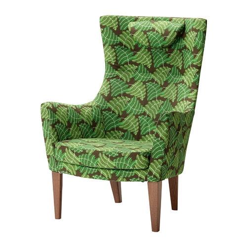 stockholm fotel wysokie oparcie mosta zielony ikea. Black Bedroom Furniture Sets. Home Design Ideas