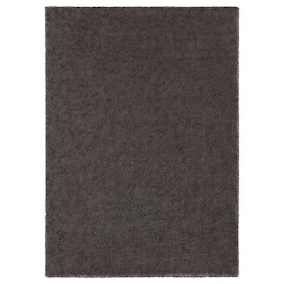STOENSE Dywan z krótkim włosiem, ciemnoszary, 170x240 cm