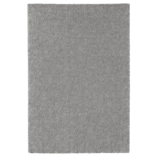 STOENSE dywan z krótkim włosiem średnioszary 195 cm 133 cm 18 mm 2.59 m² 2560 g/m² 1490 g/m² 15 mm
