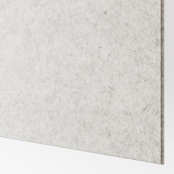 STORFOSNA Drzwi przesuwne, jasnoszary filc, 200x236 cm
