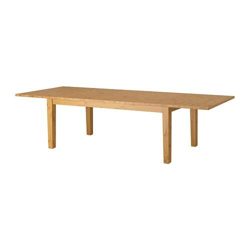 СТУРНЭС Раздвижной стол, морилка,антик, 201/247/293x105 см-6