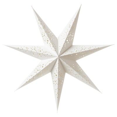 STRÅLA Klosz, koronka biały, 70 cm