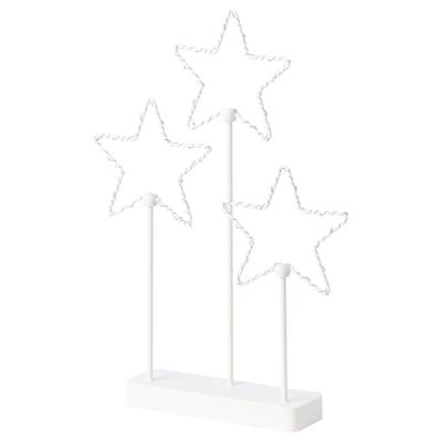 STRÅLA Ozdoba stołowa LED, na baterie/gwiazda 3