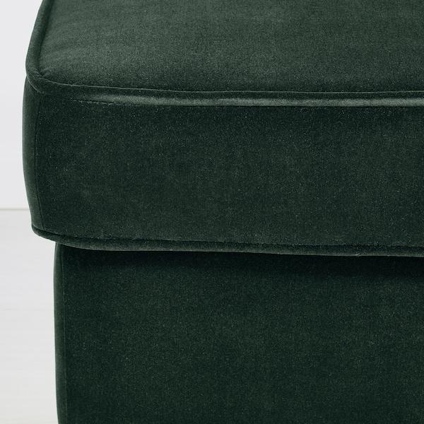 STRANDMON Podnóżek, Djuparp ciemnozielony