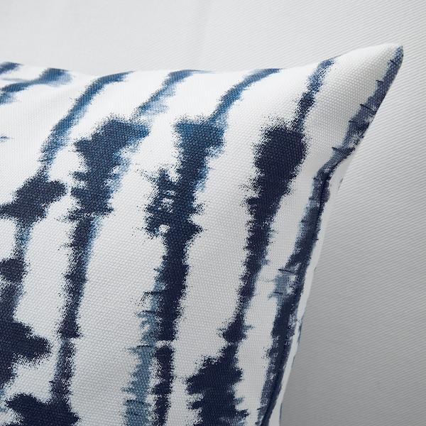STRIMSPORRE Poszewka, biały/niebieski, 50x50 cm