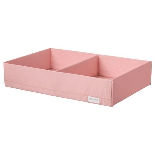STUK pudełko z przegrodami różowy 34 cm 51 cm 10 cm